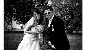 Esküvői fotózás fekete fehér kép