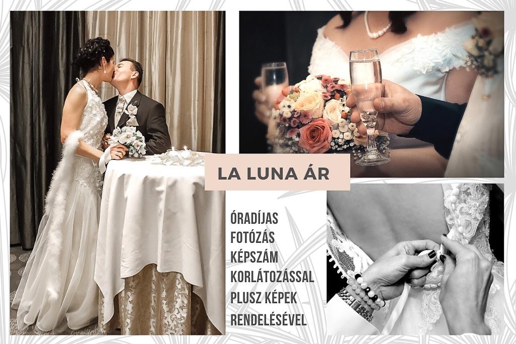 Esküvői fotózás és filmes árak La Luna
