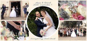 Esküvői köszönőkártya