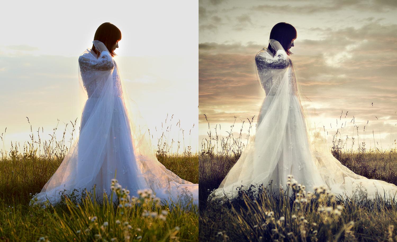 Művészi esküvői fotózás, retusálás