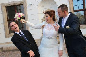 Vidám esküvői fotózás