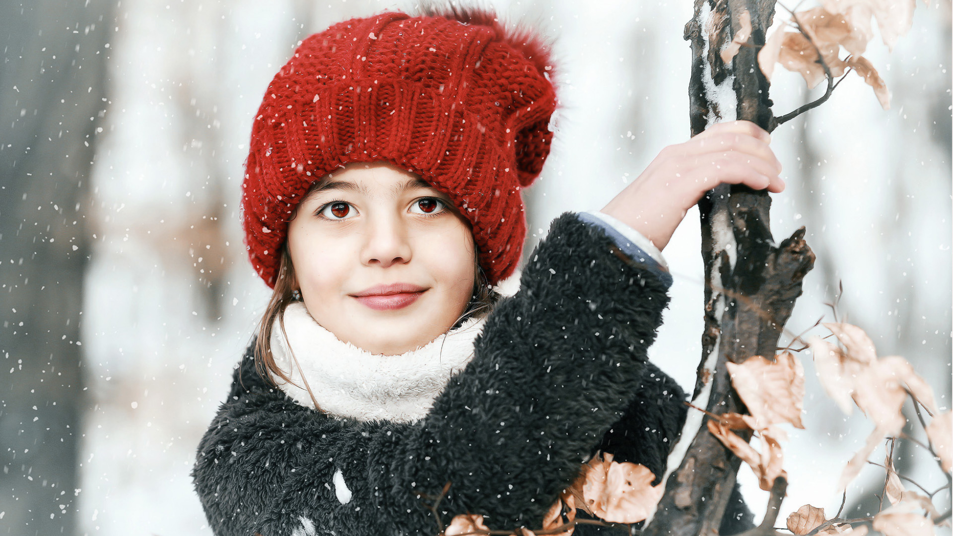 téli gyermek fotózás