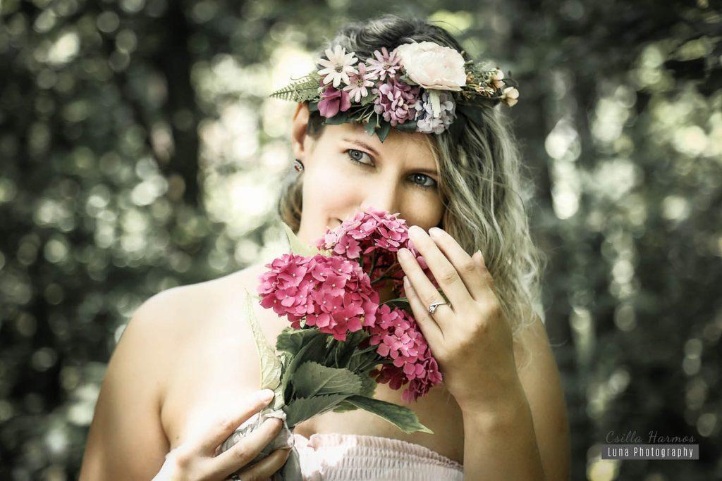 Jegyes fotózás, menyasszony