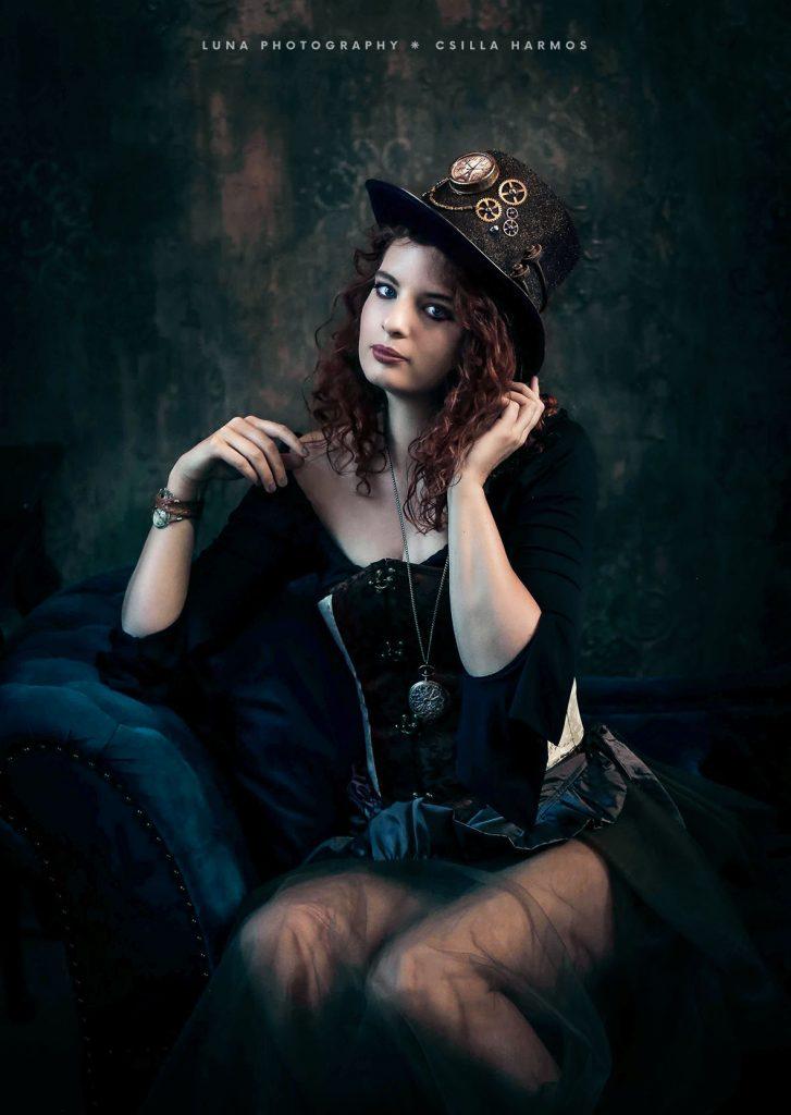 portré_fotózás_stúdióban_handmade_utómunkával_steampunk