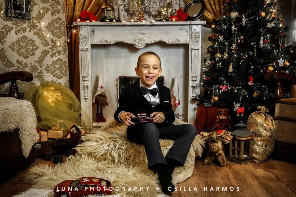 karácsonyi fotózás stúdióban tatabánya